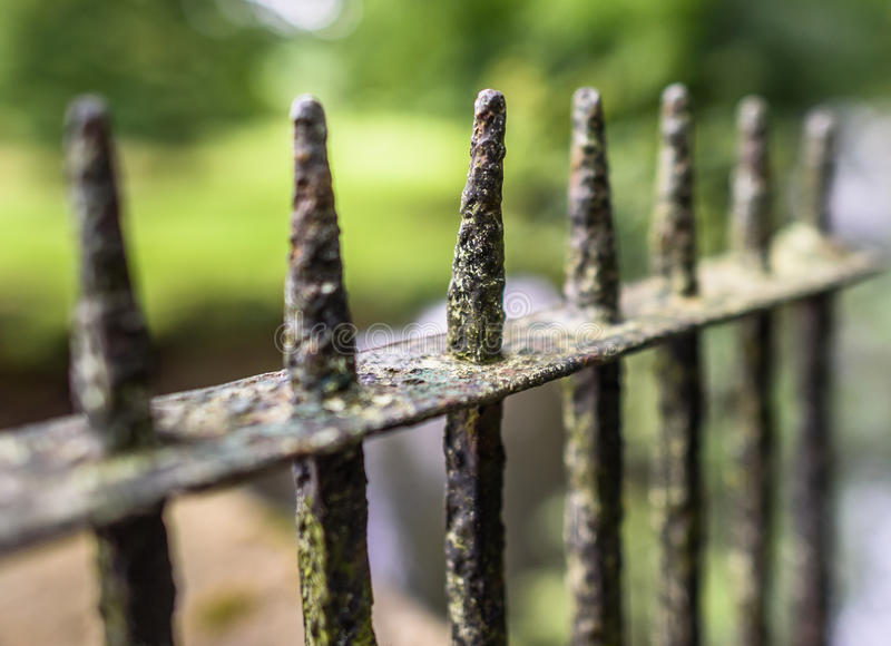 Old Iron Spikes royalty free stock photo