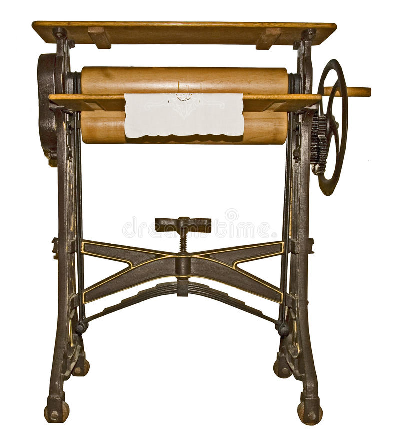 Old ironing machine royalty free stock images