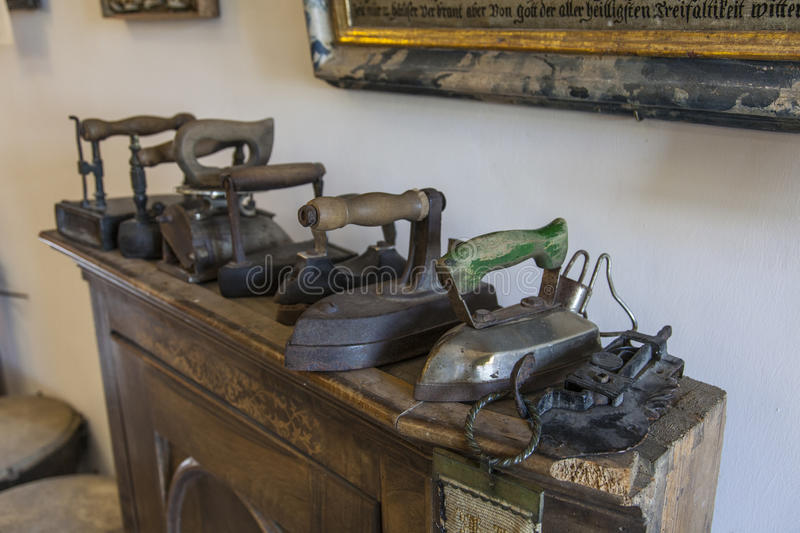 Old Irons in museum. Old Irons in the museum of st. Trojica royalty free stock photography