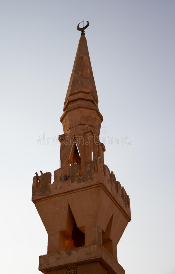 Old islamic minaret stock photography