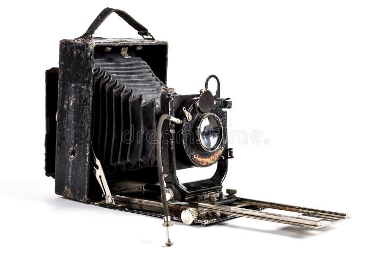 Old Isolated Camera. Old Photography Camera Isolated on White Background stock photo