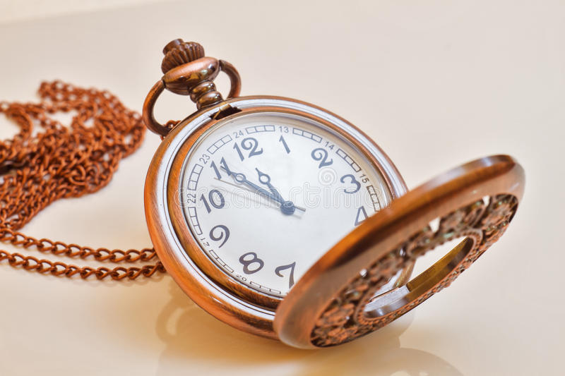 Old isolated watch royalty free stock image