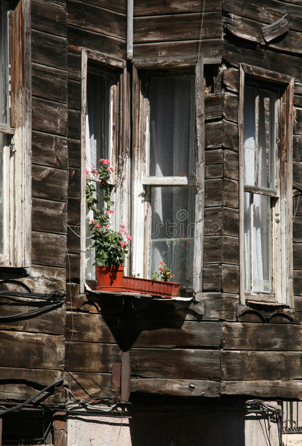 Old Istanbul house royalty free stock photo