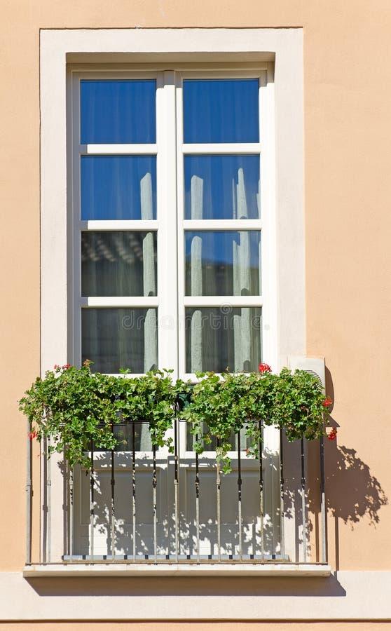 Old italian balcony royalty free stock photos