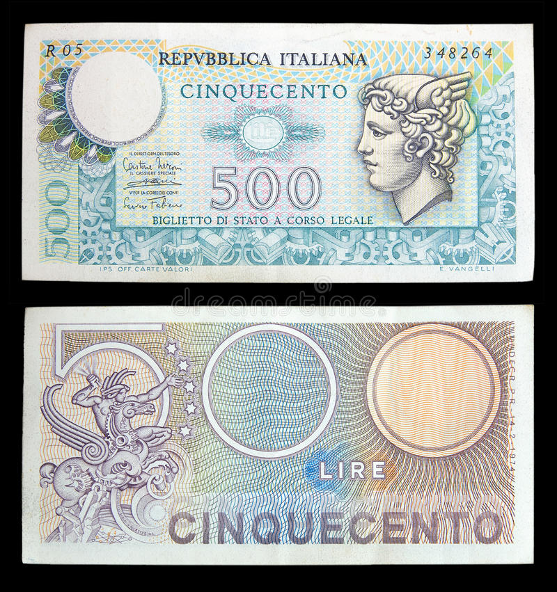 Download Old italian banknotes stock image. Image of collection - 13210383