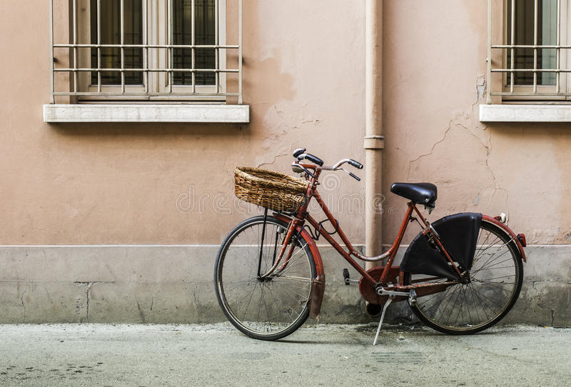 Download Old Italian bicycle stock photo. Image of european, antiquated - 42996422
