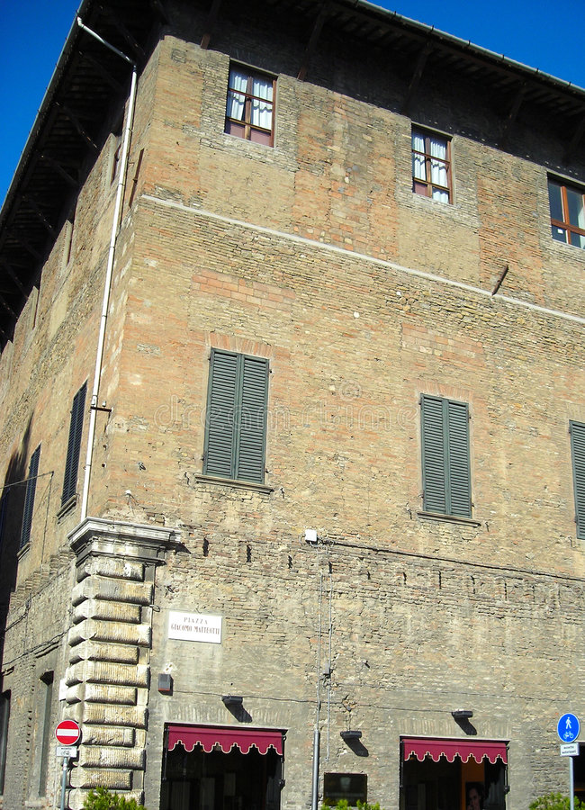 Old italian building stock photography