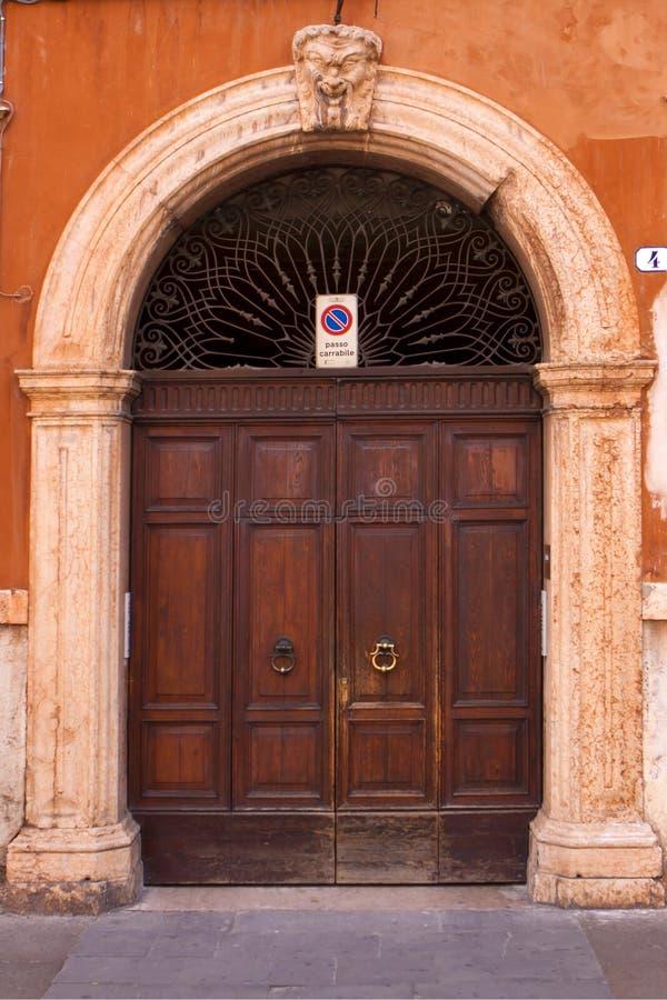 Old Italian door. royalty free stock image
