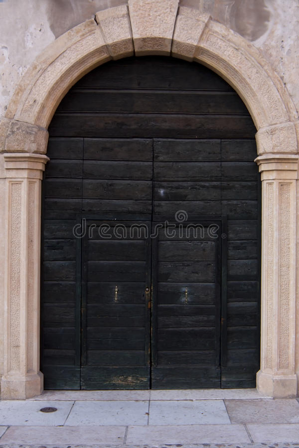 Old Italian door. royalty free stock photography
