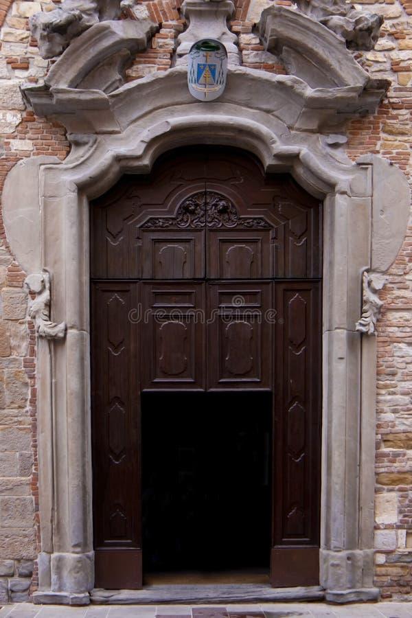 Old Italian door. royalty free stock photo