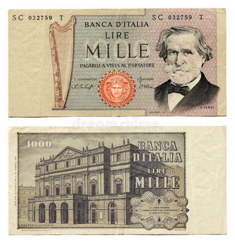 Download Old Italian Money stock image. Image of italy, milan - 20002681