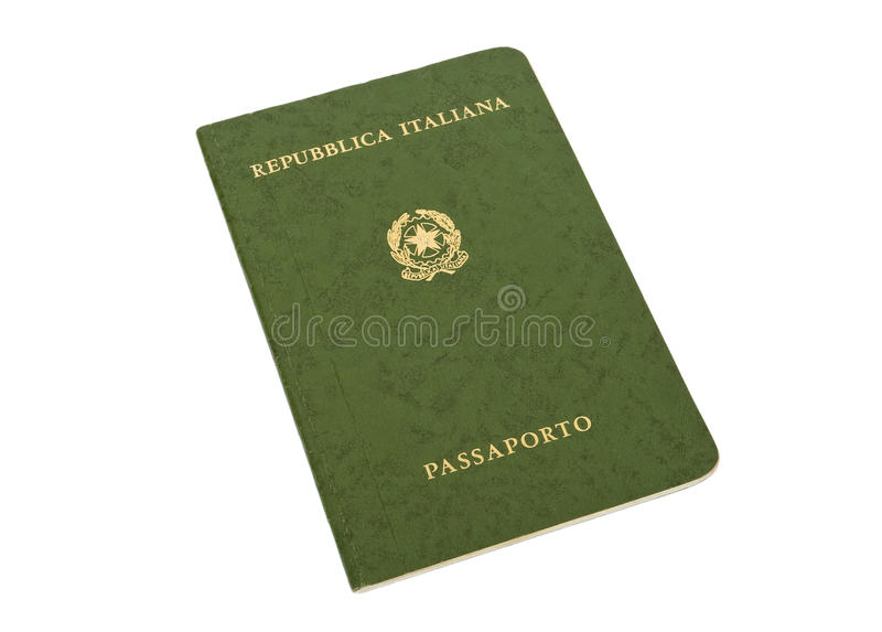 Old Italian passport royalty free stock images