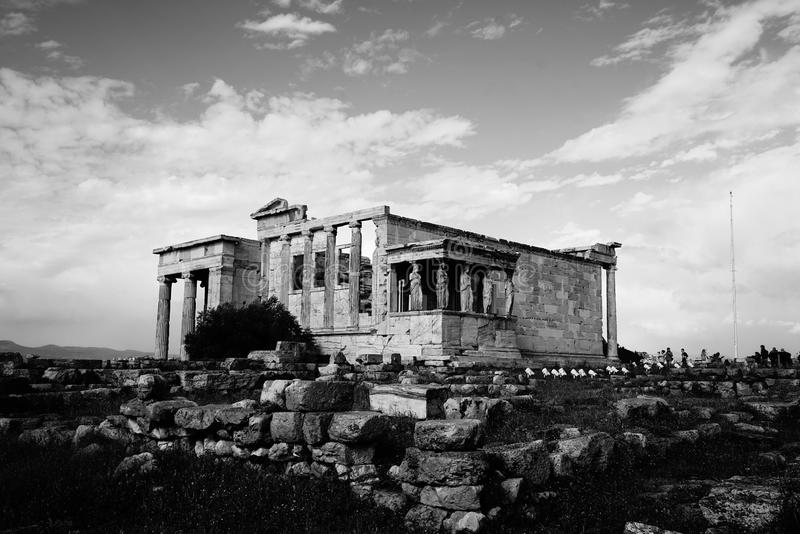 An old Italian temple made of stone royalty free stock photography