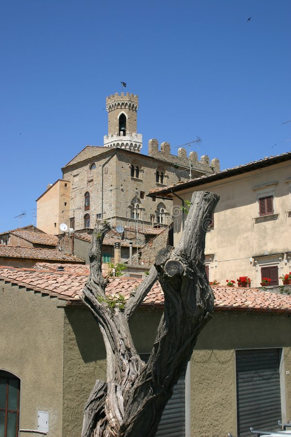Download Old italian town Volterra stock image. Image of trunk - 5382955