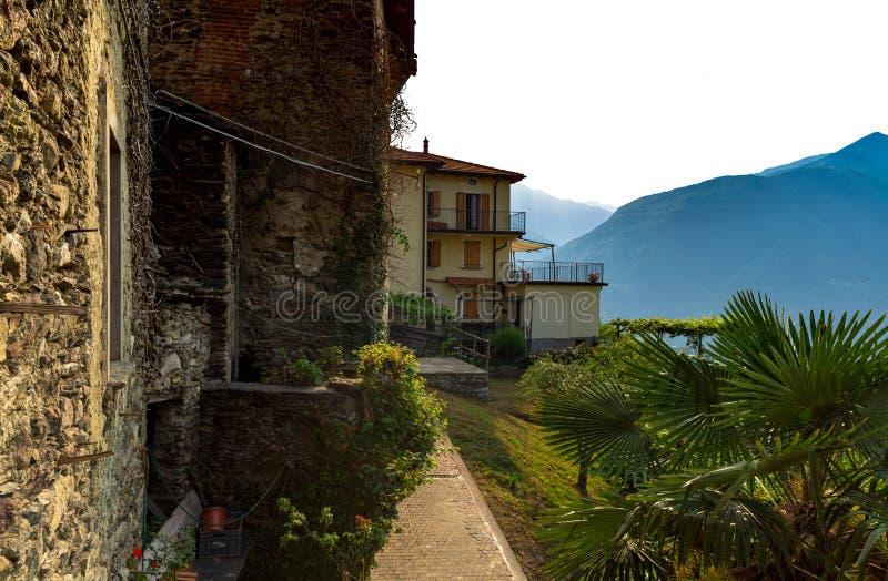 Old Italian villa Lake Como. Old Italian villa on Lake Como royalty free stock photos