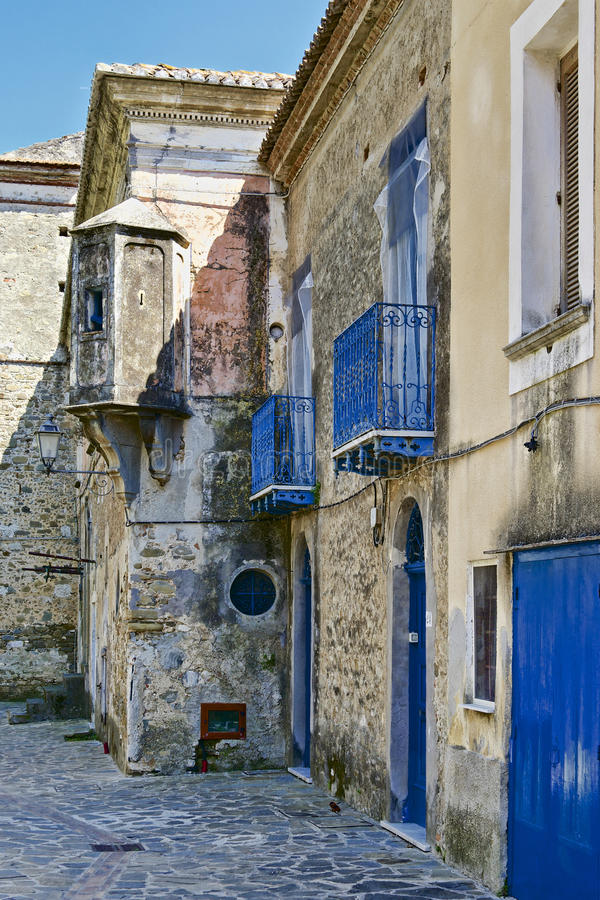Download Old Italian Village Buildings Stock Photo - Image of plaster, tiles: 32041876