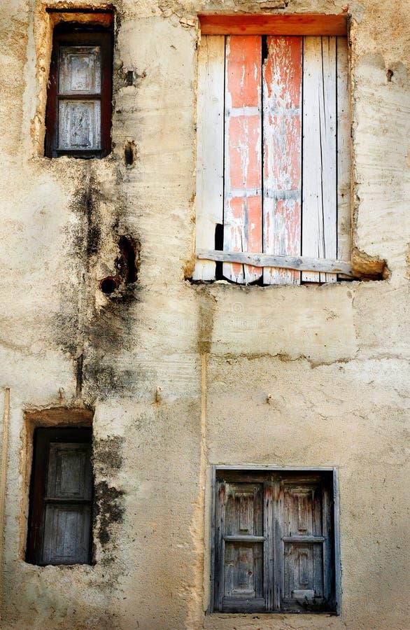 Old Italian window. Sill, Rome, Italy stock image