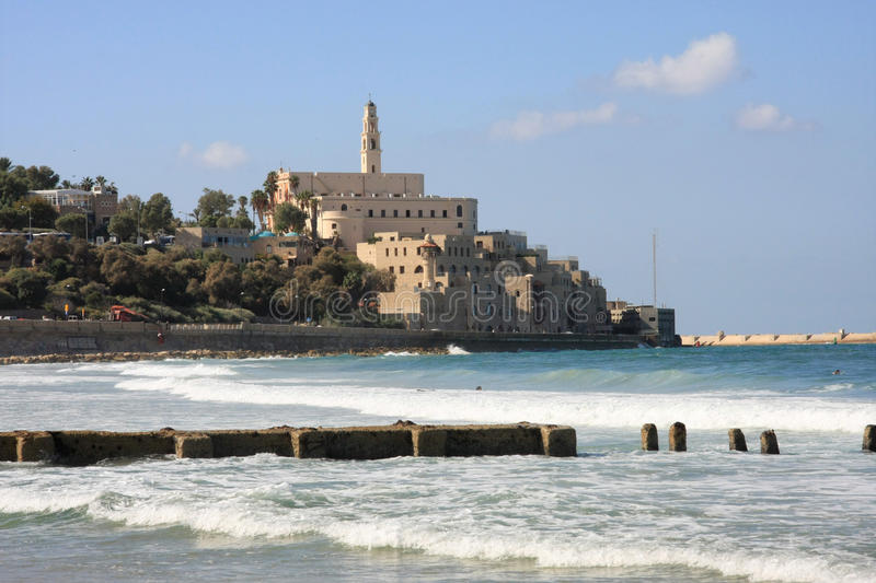 Old Jaffa. View to Old Jaffa, Israel stock photo