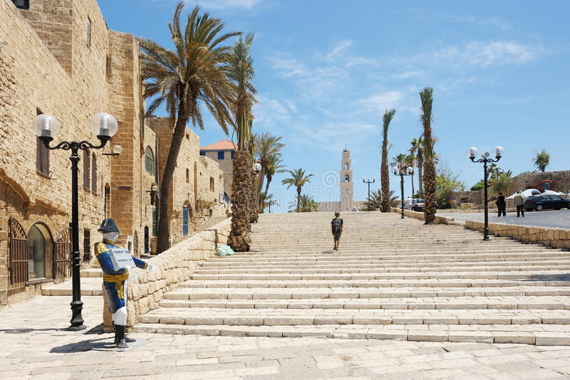 Old Jaffa. The streets, houses and trees of Old Jaffa royalty free stock images