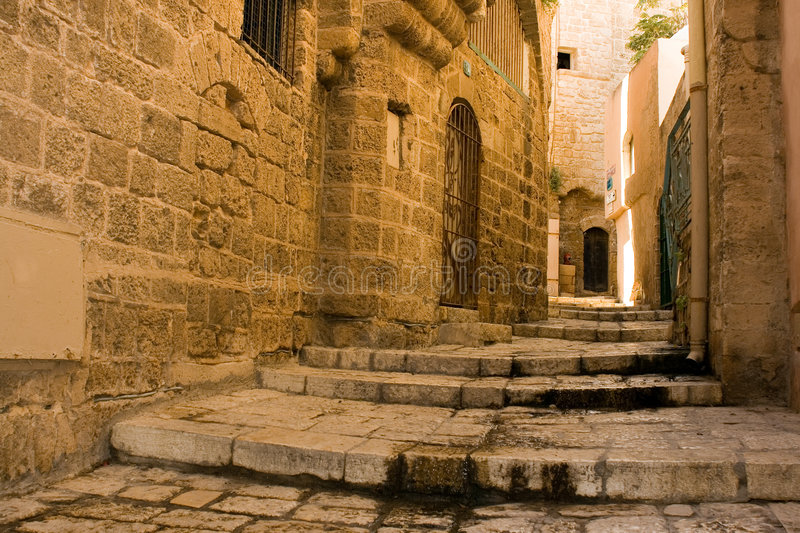 Old Jaffa. Jaffa is one of the most ancient port cities in the world.Tradition says Jaffa was founded by Japheth, son of Noah, after the Flood stock image