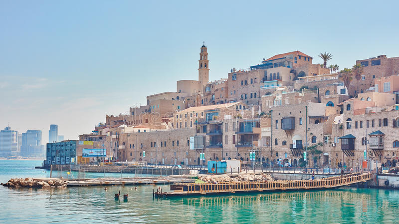 Old Jaffa. City sea view stock photos