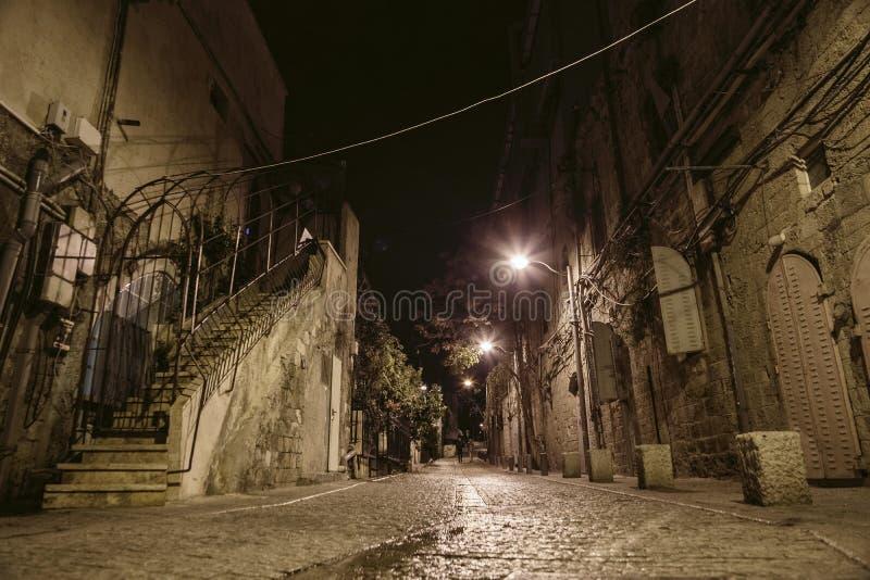 Street in Old Jaffa in Tel Aviv stock photography