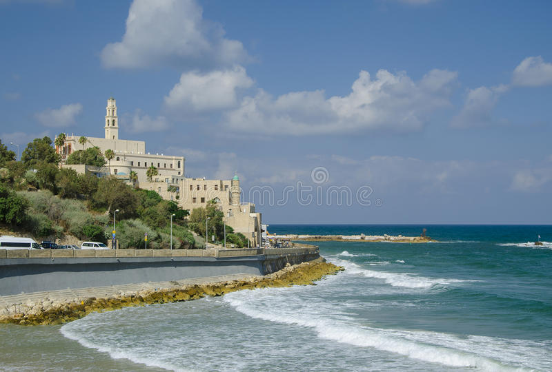 Old Jaffa. View from Tel-Aviv. Israel stock photos