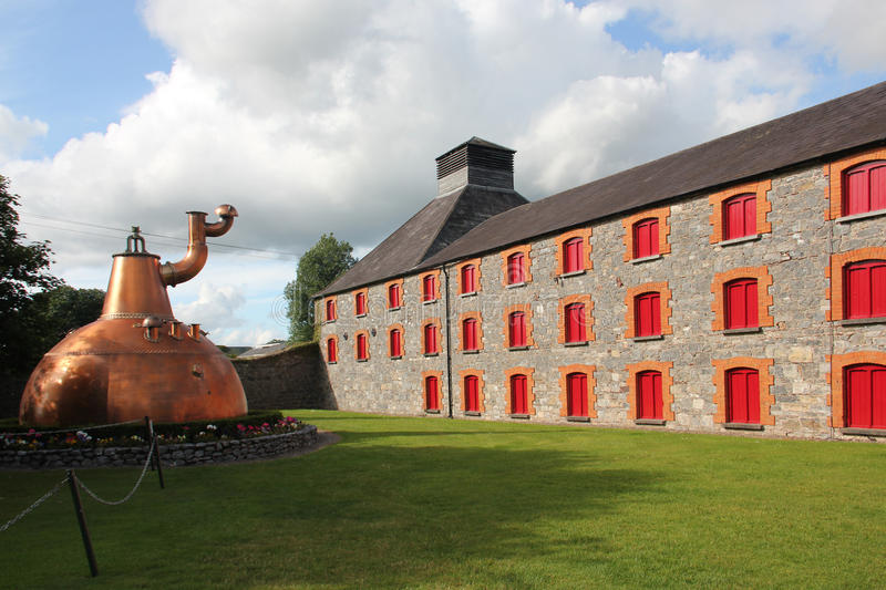 Old Jameson Distillery, Dublin. Big copper pot at the Old Jameson Distillery. The Old Jameson Distillery is an Irish whiskey tourist attraction located just off stock photo