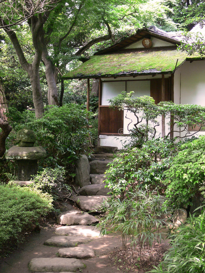 Download Old japanese tea house stock image. Image of tree, nature - 879009