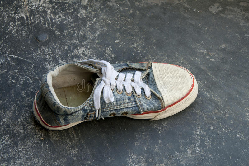 Download Old Jean Sneaker Royalty Free Stock Photo - Image: 22437425