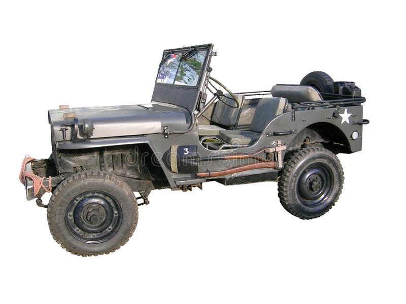Old jeep royalty free stock photos