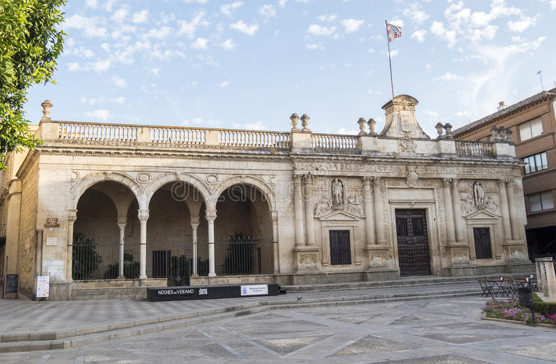 Old Jerez de la Frontera City Hall, Spain.  stock images