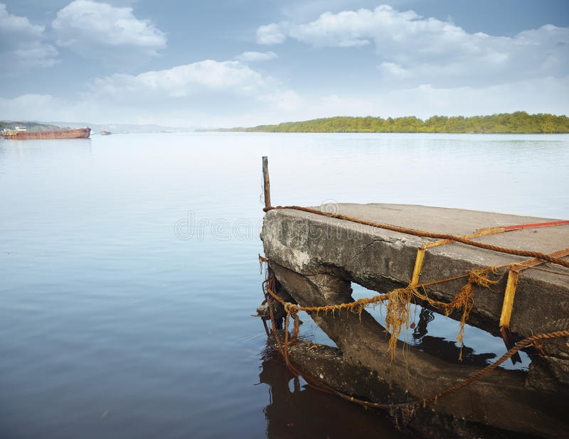 Download Old jetty stock photo. Image of serenity, object, horizon - 13461090