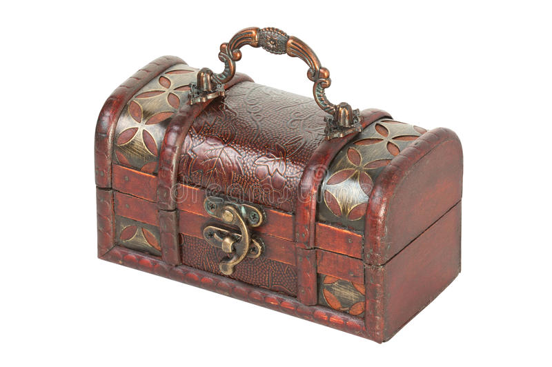 Old Jewelry Box With Lock Stock Images