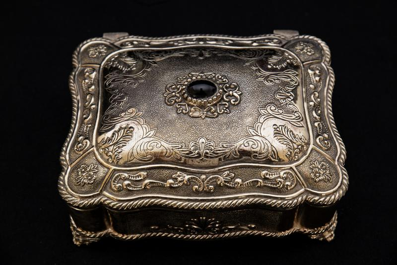 Old jewelry box royalty free stock photography