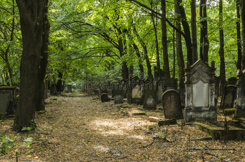 Old Jewish Cementary stock images