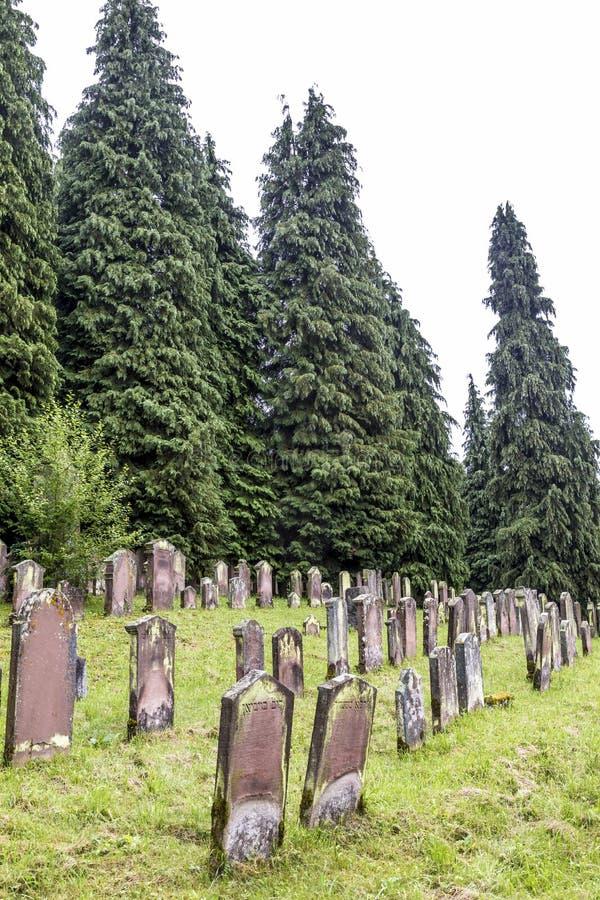 Old jewish cenetery in Emmendingen. EMMENDINGEN, GERMANY - JULY 4, 2013: famous old jewish cenetery in Emmendingen, Germany. The cemetery was closed in 1902 and stock photo