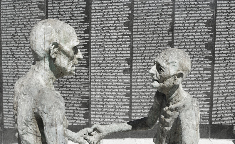 Old Jewish Couple Sculpture Editorial Image