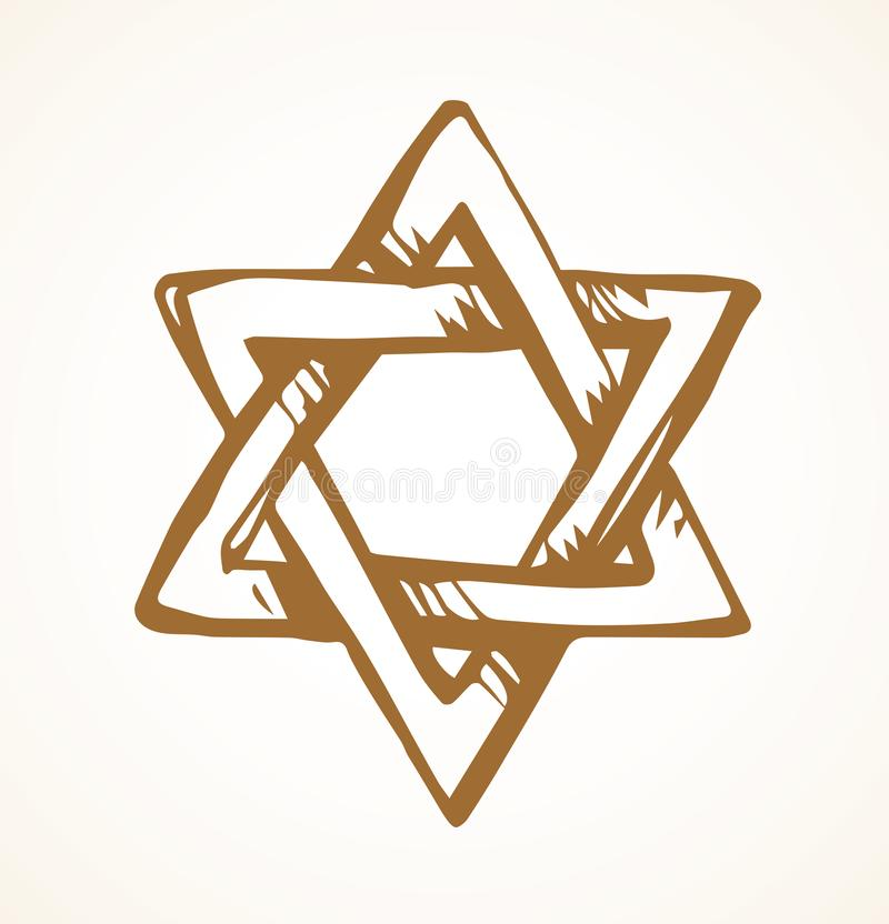 Jewish holiday symbol. Vector drawing vector illustration