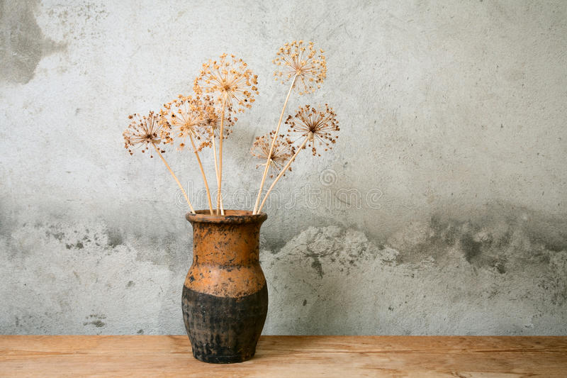 Download Old jug with dry flower stock image. Image of traditional - 20979645