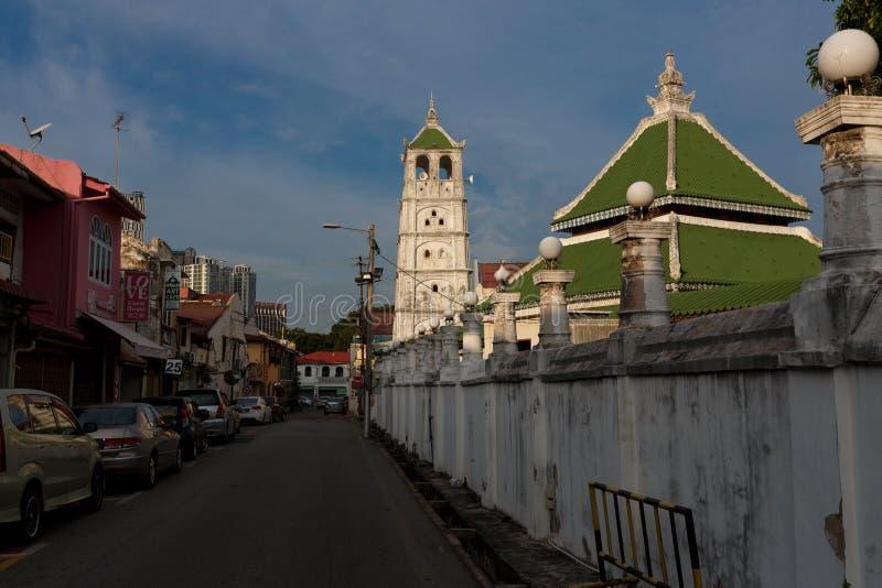 Old Muslim mosque in Melaka, Malaysia. Old Kampung Kling Mosque in Jalan Tukang Besi of Melaka, Malaysia stock photography