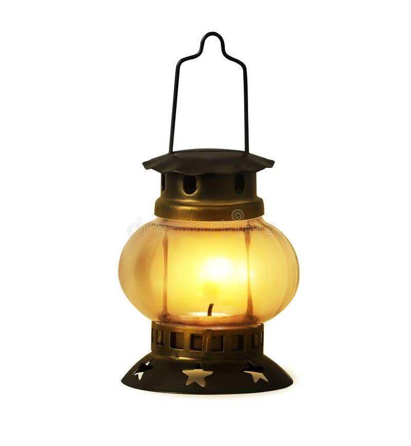 Animated Burning Lamp Oil : Old kerosene lantern burning stock image of light
