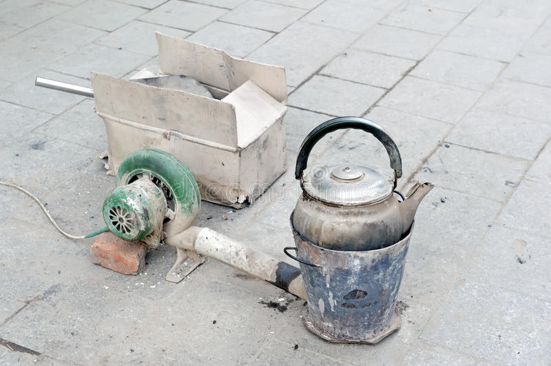 Download Old Kettle On The Chinese Street. Stock Photography - Image: 27746892
