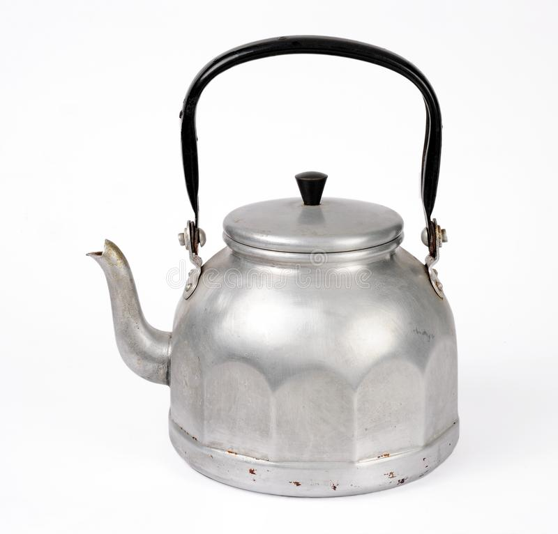 Old kettle isolated over white. Background stock photos