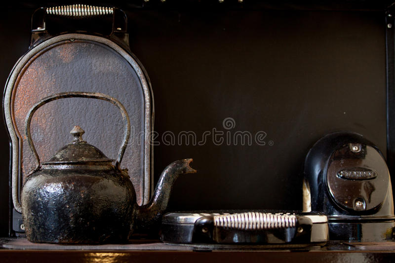 Download Old kettle on the stove stock image. Image of old, cooker - 25503227