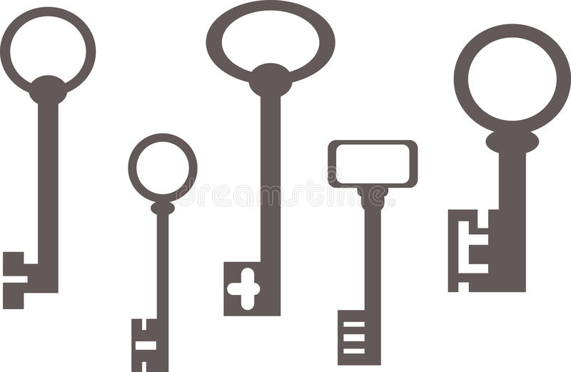 Old keys royalty free illustration