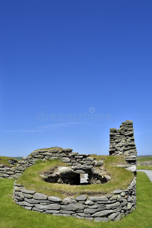 Old kiln. Remains of a kiln that likely served as a bakery attached to the 16th century house known as the laird's house, Jarlshof, Dunrossness, Shetland royalty free stock images