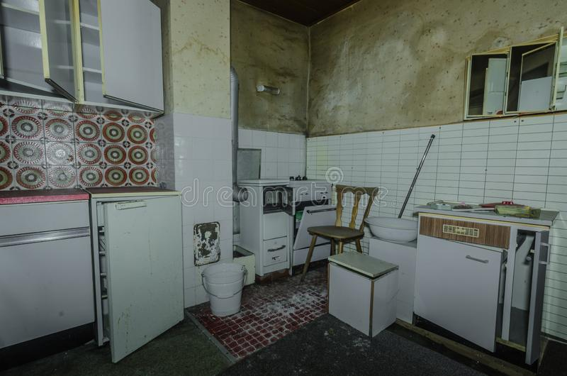old kitchen in a forest house royalty free stock image