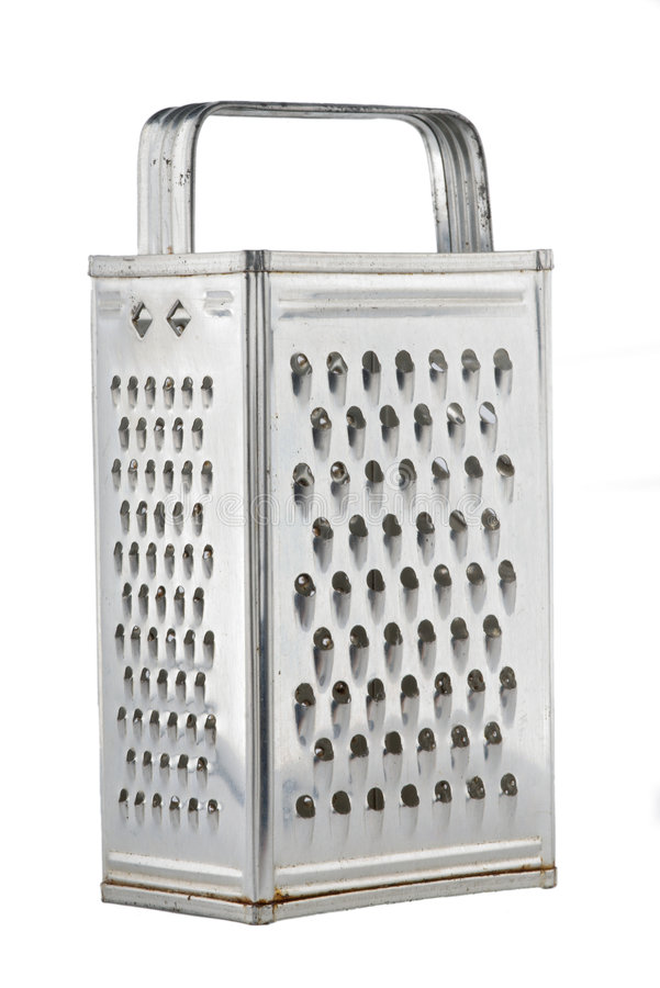 Old kitchen grater royalty free stock image