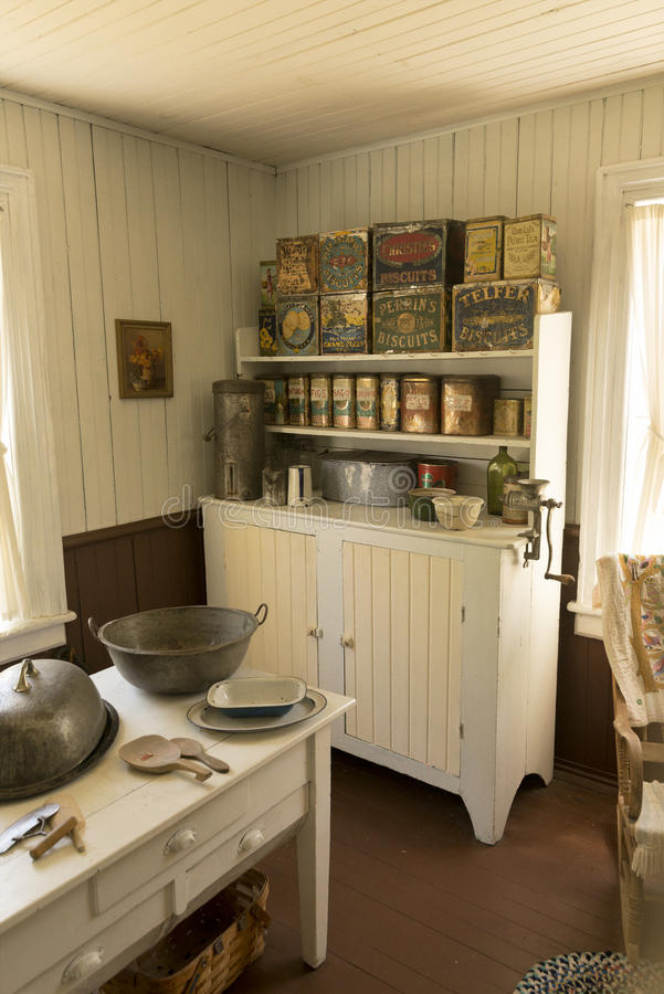 Old kitchen at Pandosy mission site. The first non-native settlement in the Okanagan Valley was a mission established on this site in 1859 by Father Pandosy stock images